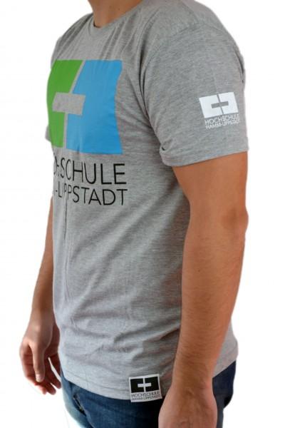 T-Shirt Herren grün-blau